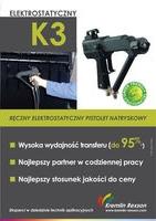 Pistolet elektrostatyczny K3 - ręczny elektrostatyczny pistolet natryskowy