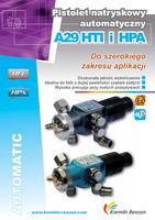 Pistolet natryskowy automatyczny A29 HTI i HPA do szerokiego zakresu aplikacji