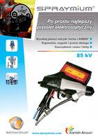 Pistolet elektrostatyczny SPRAYMIUM - vortex i airmix